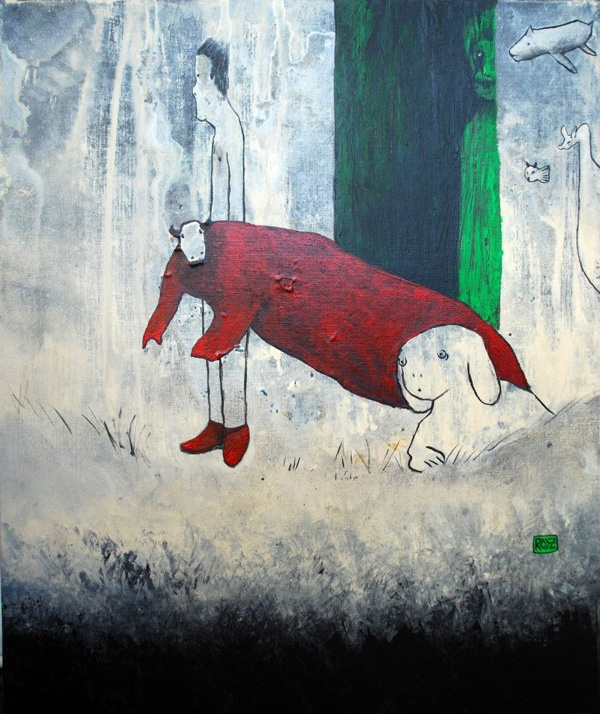 Théa Rozjman, Red shoes (65x54cm)