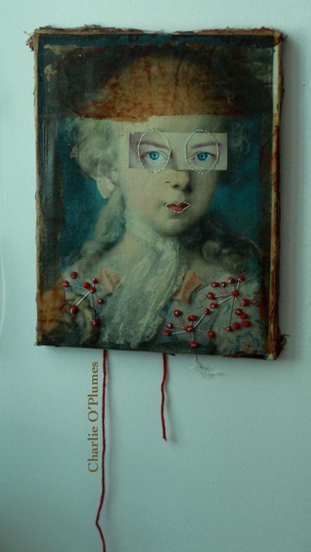 tableau oeil vintage marie-antoinette