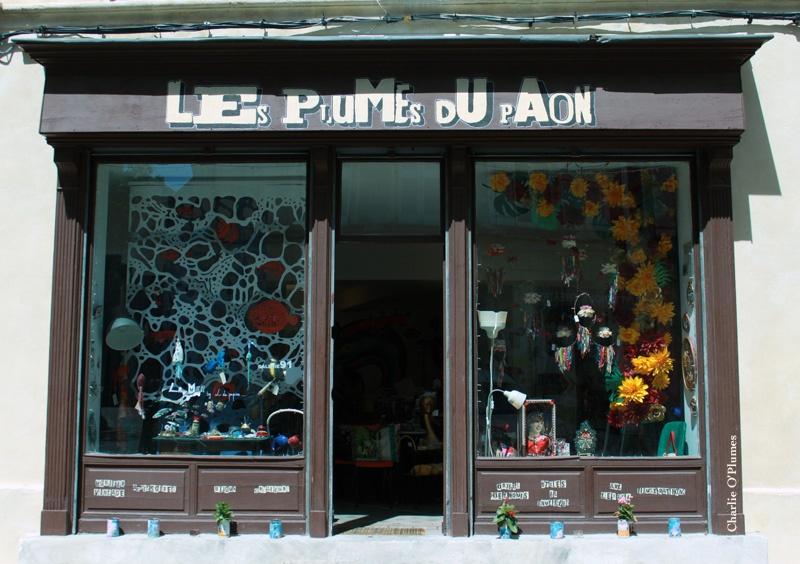 vitrine plumes du paon boutique créateurs avignon